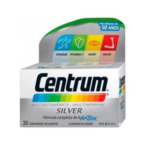Vitaminas y Minerales Centrum Silver - 30 unid